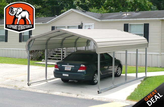 5 Car Metal Carport : Basic car metal carport  for