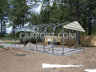 carport.com metal carports metal garage metal barn install photo 1