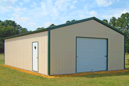 NC North Carolina traditional metal steel garage