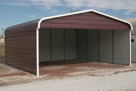 Metal garage building 18 39 x 21 39 x 8 39 ebay for Construction garage double