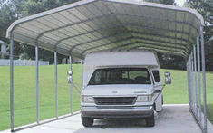 Motorchoach metal carport shelter