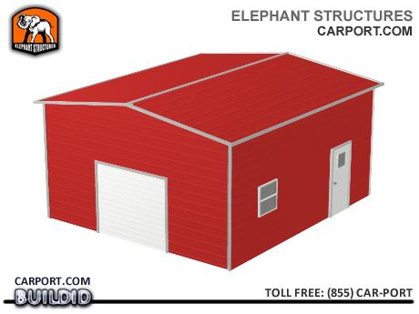 Deluxe One Car Steel Garage Metal Garages - Elephant Structures