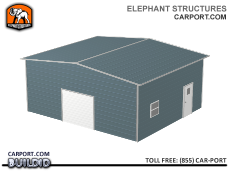 Deluxe Two Car Steel Garage Metal Garages - Elephant Structures