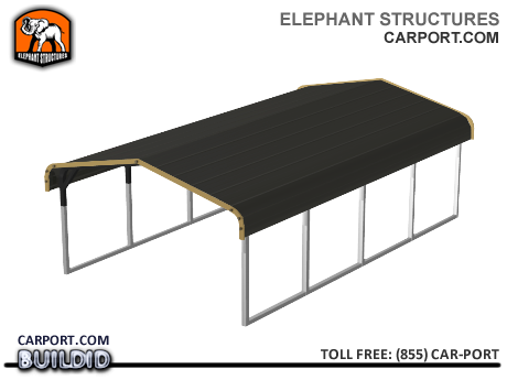 Standard 12x21x5 Metal Carport for One Car Metal Carports - Carport.com