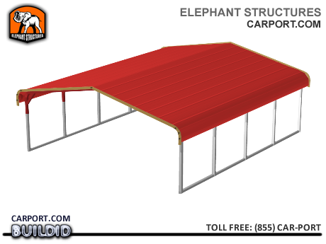 Standard 18x21x5 Metal Carport for Two Cars Metal Carports - Elephant Structures