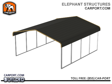 Double-Wide Metal Carport for two SUVs, Pickup Trucks or Vans Metal Carports - Carport.com