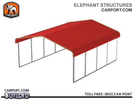Double-Wide Metal Carport for two SUVs, Pickup Trucks or Vans Metal Carports - Elephant Structures