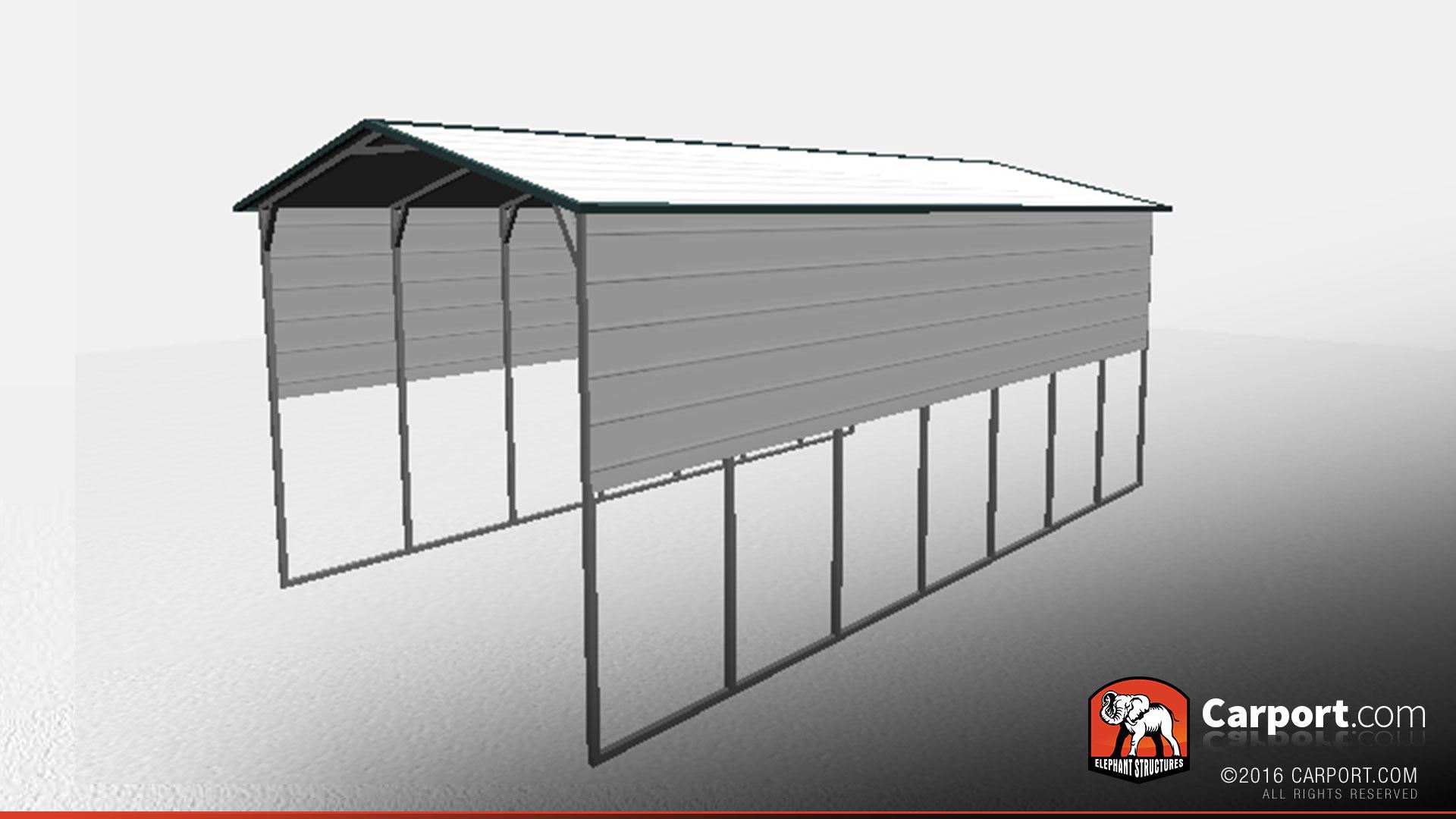 16' x 30' x 12' RV Carport with Extra Panels   Shop Metal ...