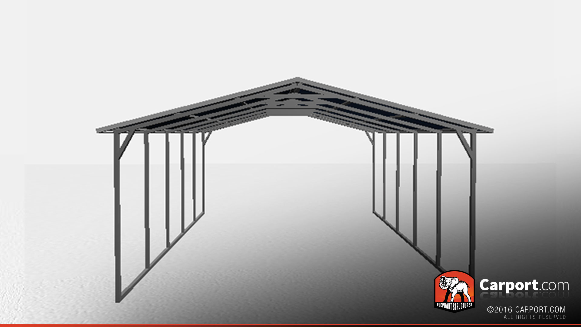 Vertical Roof Metal Carport : Vertical roof metal carport shelter