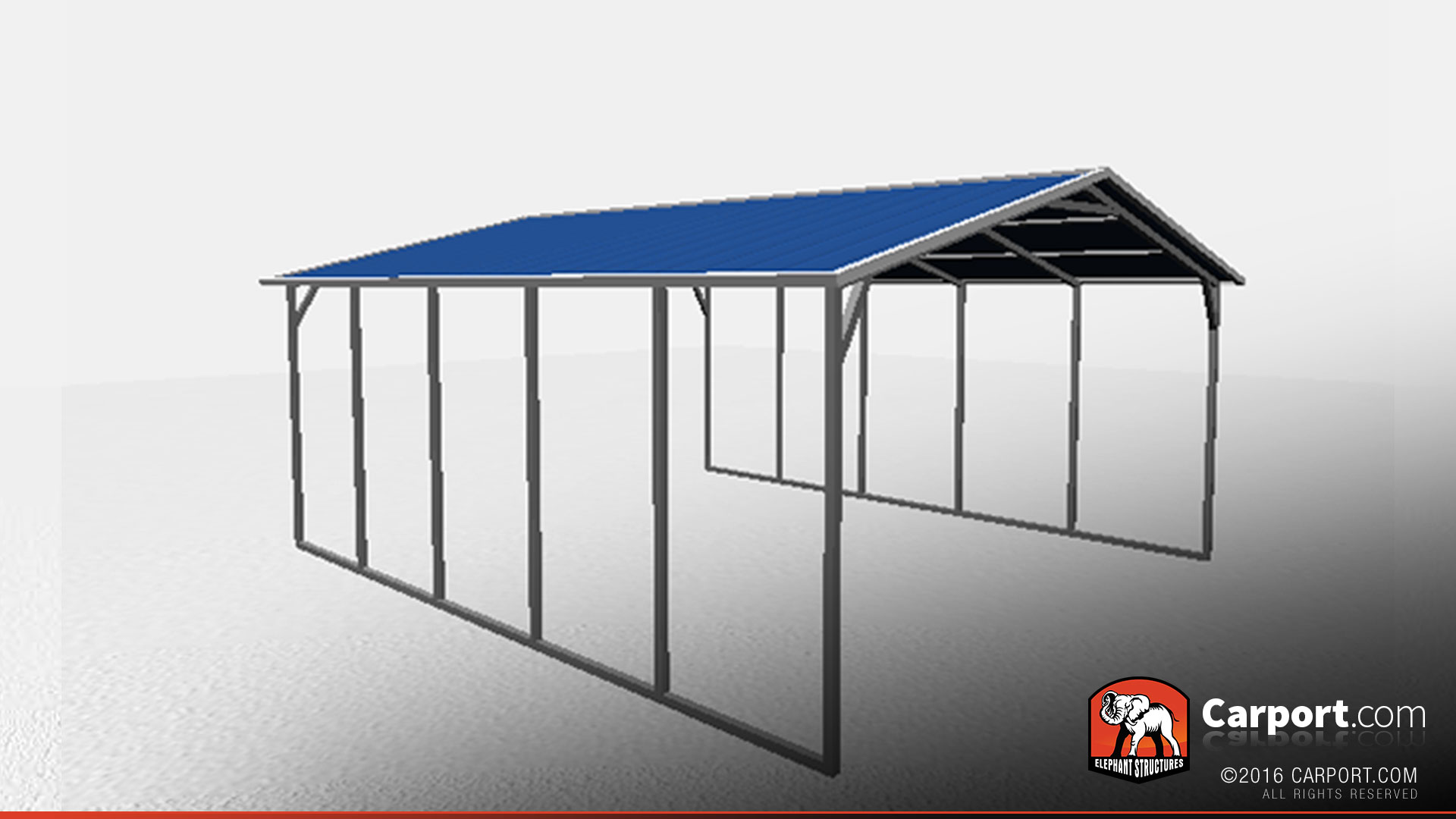 18 39 x 21 39 vertical roof metal carport shelter metal for Carport shop