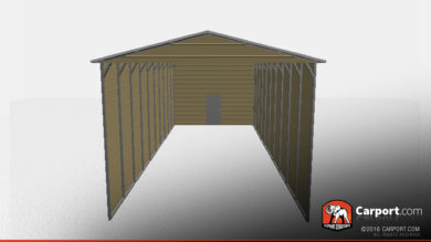 18x41 RV Carport with Vertical Roof 1