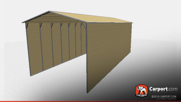 18x41 RV Carport with Vertical Roof 2