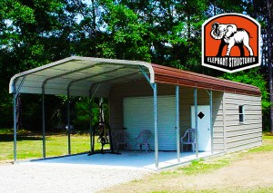 Steel Utility Carports with Metal Sheds