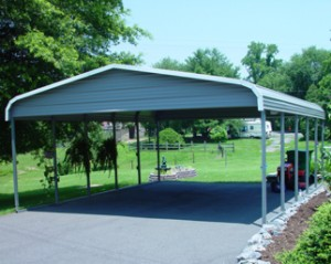 A 2 Car Garage or Carport makes a perfect Barbeque area!