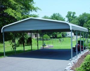 A 2 Car Garage or Carport makes a perfect Barbeque area!