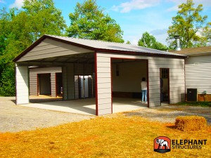 Adding a garage carport to an old brick house