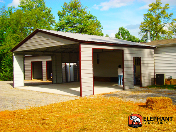 Adding a garage carport to an old brick house for House with carport