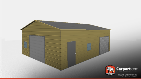 Two Car Metal Garage Workshop 24x31x10