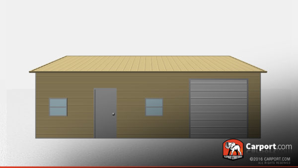24x31 Metal Garage with Side Access