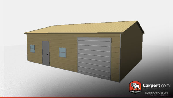 24x31 Metal Garage with Side Access 2