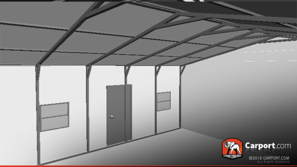 24x31 Metal Garage Interior