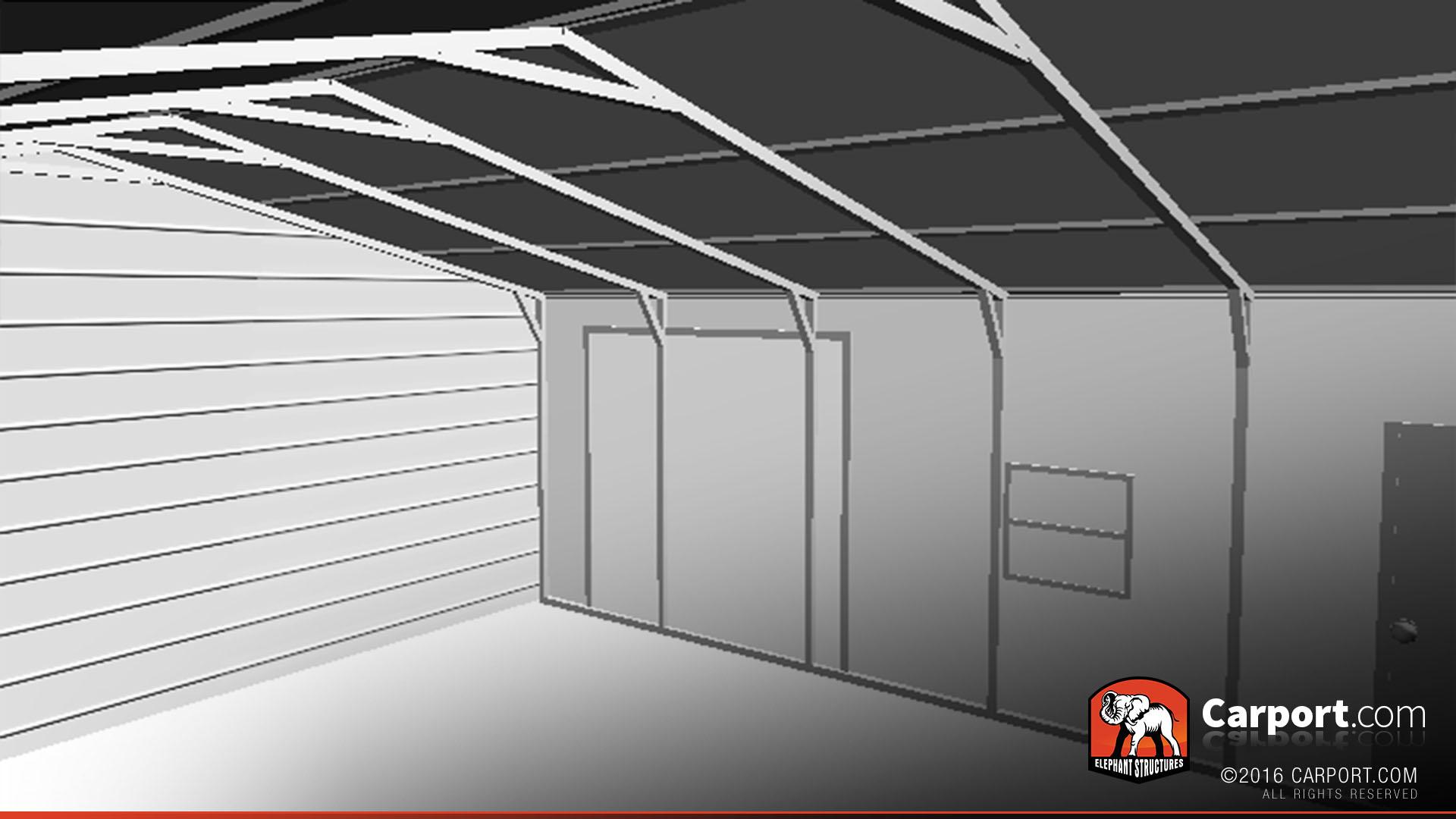 Metal Garage With Vertical Roof 24 X 31 Shop Metal