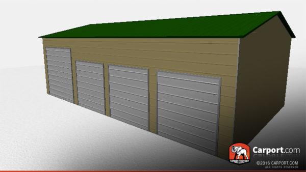 24x41 Steel Garage with 4 Doors 3