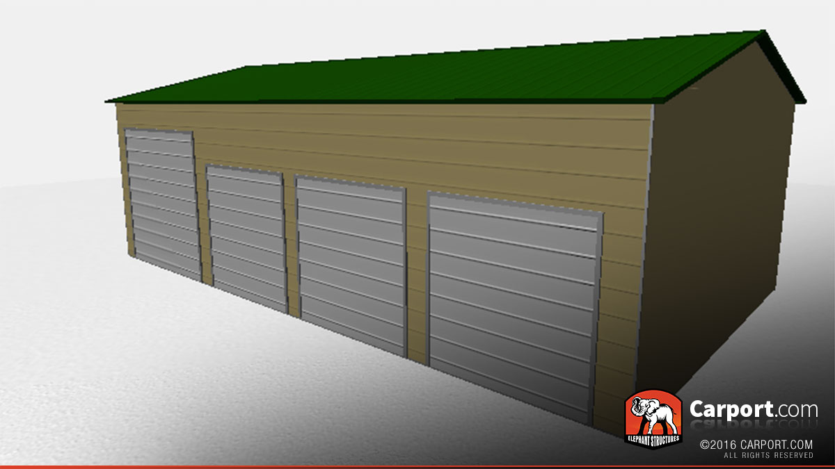 Peachy Steel Garage With 4 Doors 24 X 41 Shop Metal Garages Online Largest Home Design Picture Inspirations Pitcheantrous