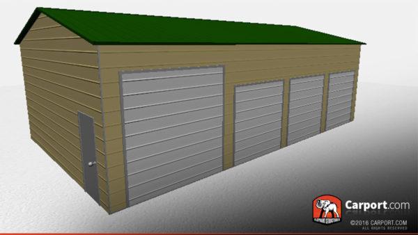 24x41 Steel Garage with 4 Doors 2