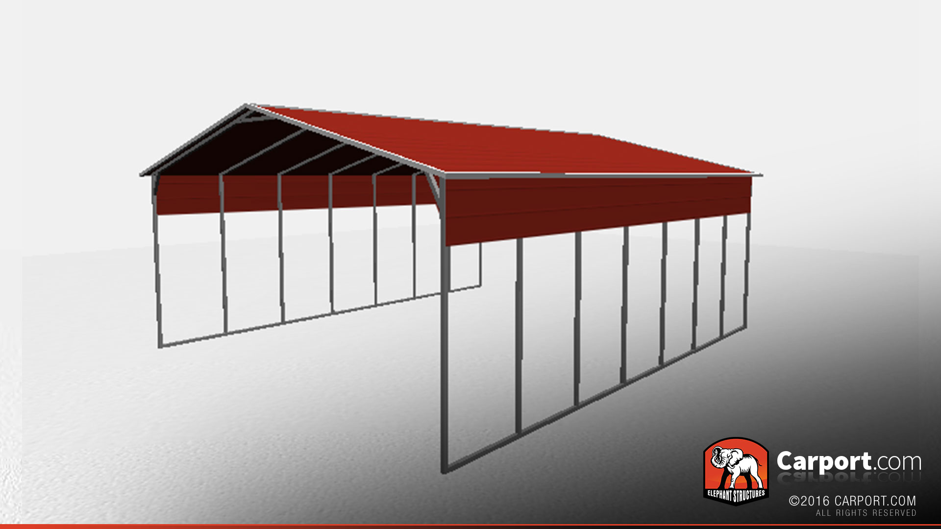 26 39 X 36 39 Open Steel Carport With A Frame Roof Steel