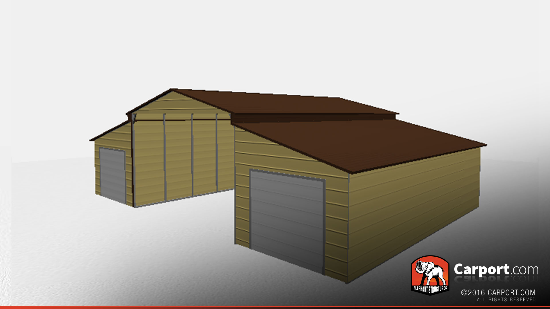 30 u0027 x 40 u0027 x 12 u0027 ridgeline barn with two garage doors ridgeline barns