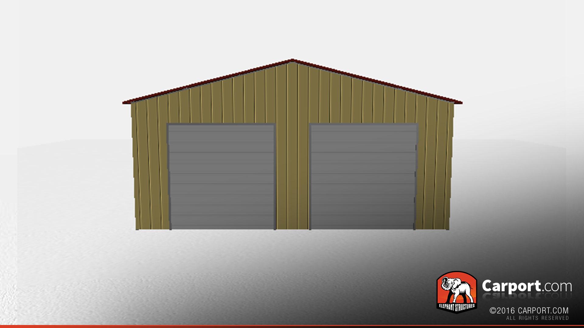 30 X 50 Metal Warehouse With Two Garage Doors