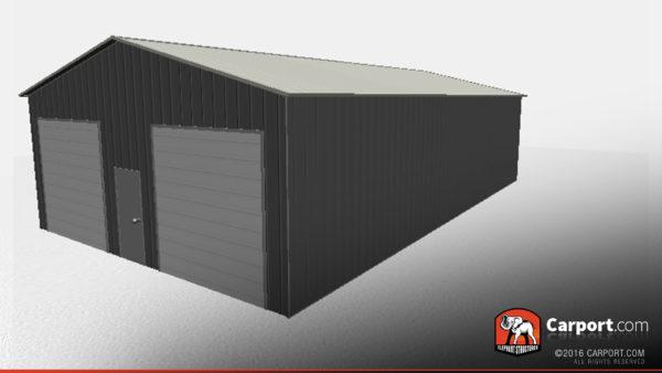30x51 Storage Building with 2 Garage Doors 2