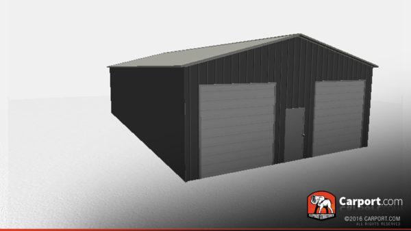 30x51 Storage Building with 2 Garage Doors 3