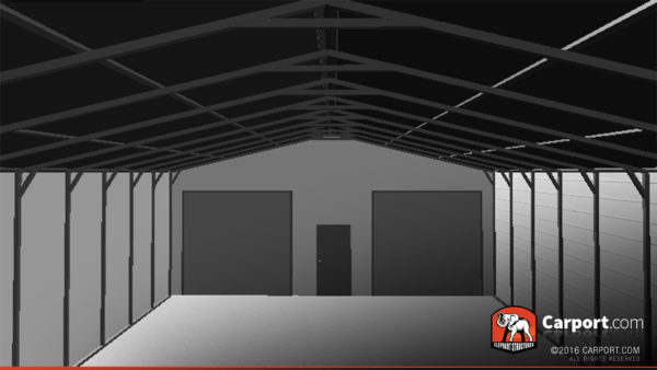 30x51 Storage Building Interior