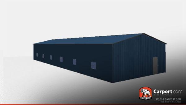 30x80 Commercial Metal Garage with 6 doors 5