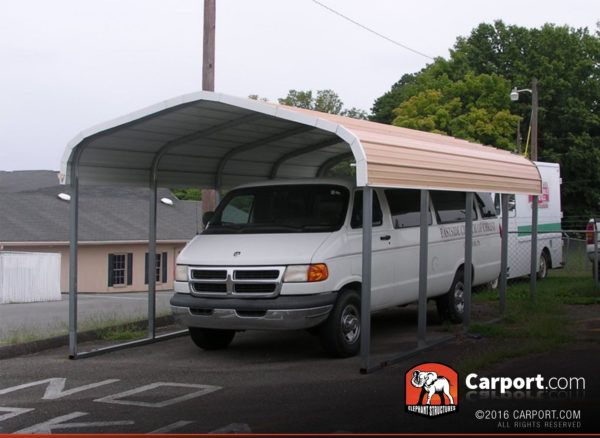 12x21 One Car Carport Metal Building with Regular Roof