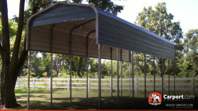 12x36 RV Carport Regular Metal Roof