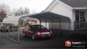 18x21 Two Car Carport Regular Style