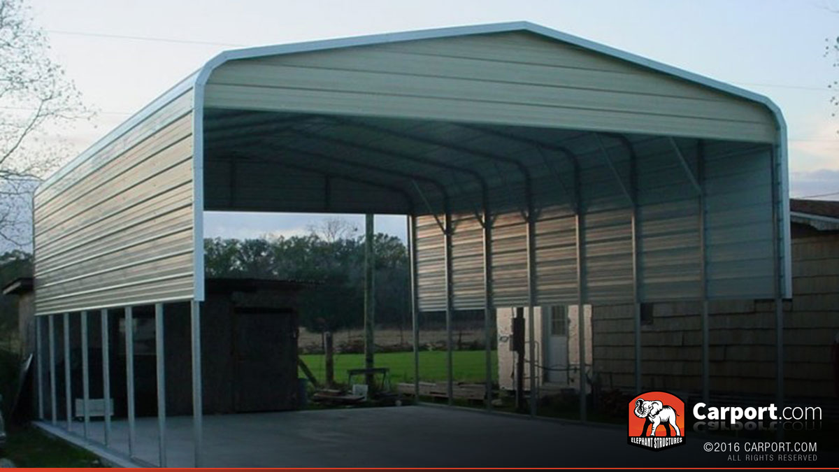 18x26 double carport with metal roof shop metal for Carport shop