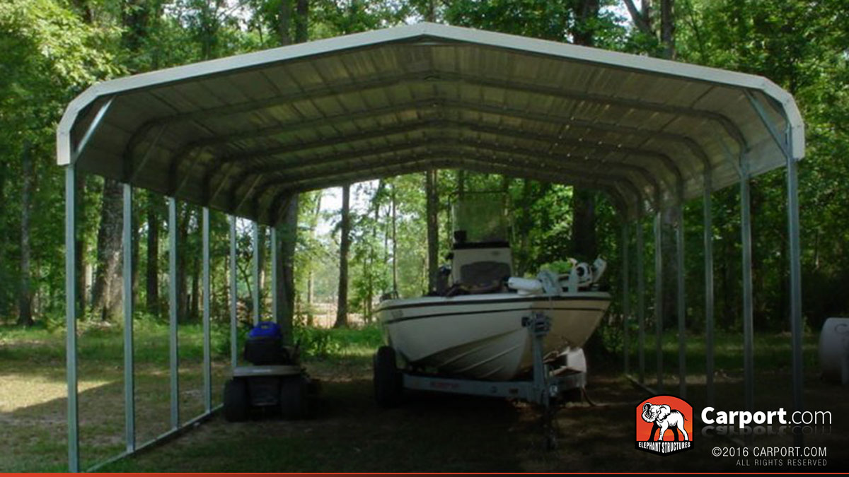 Two car carport 18 39 x 26 39 shop metal carports online for Carport shop