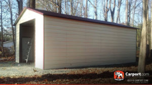 18x31 Metal Building with Large Garage Door