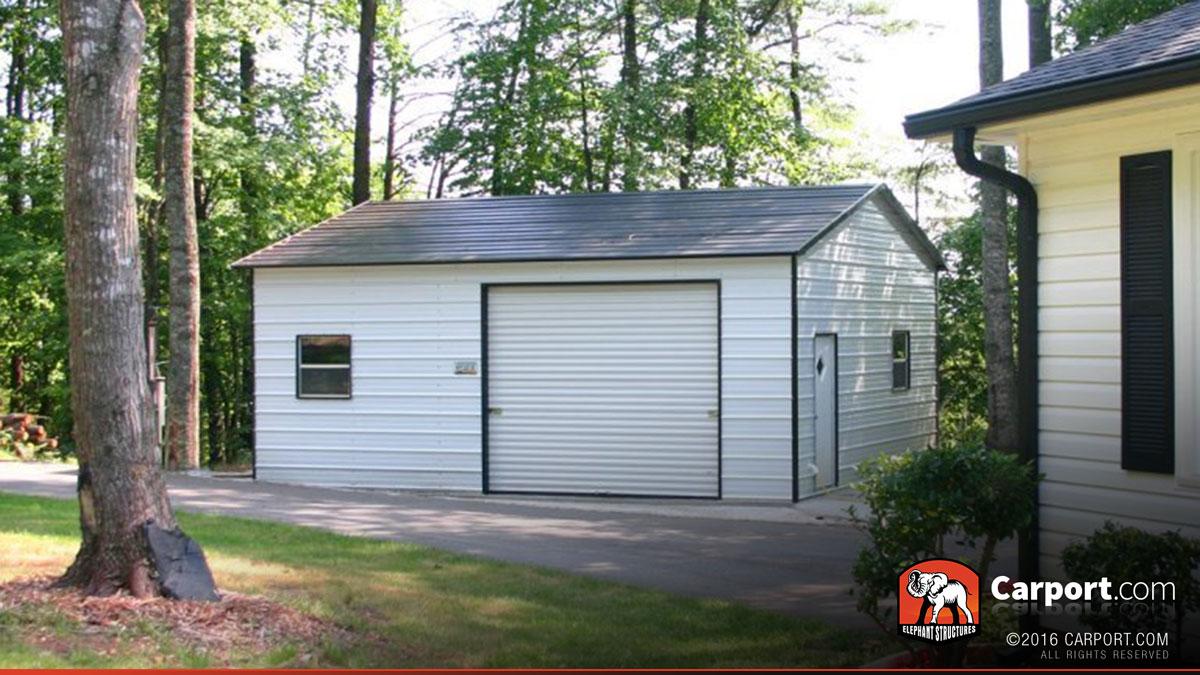 two car metal garage boxed eave roof 20 39 x 26 39 shop carports online. Black Bedroom Furniture Sets. Home Design Ideas
