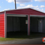 Two car metal garage 20 39 x 26 39 shop buildings online for 20 x 26 garage
