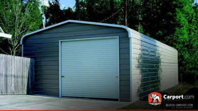 20x31 One Car Steel Garage