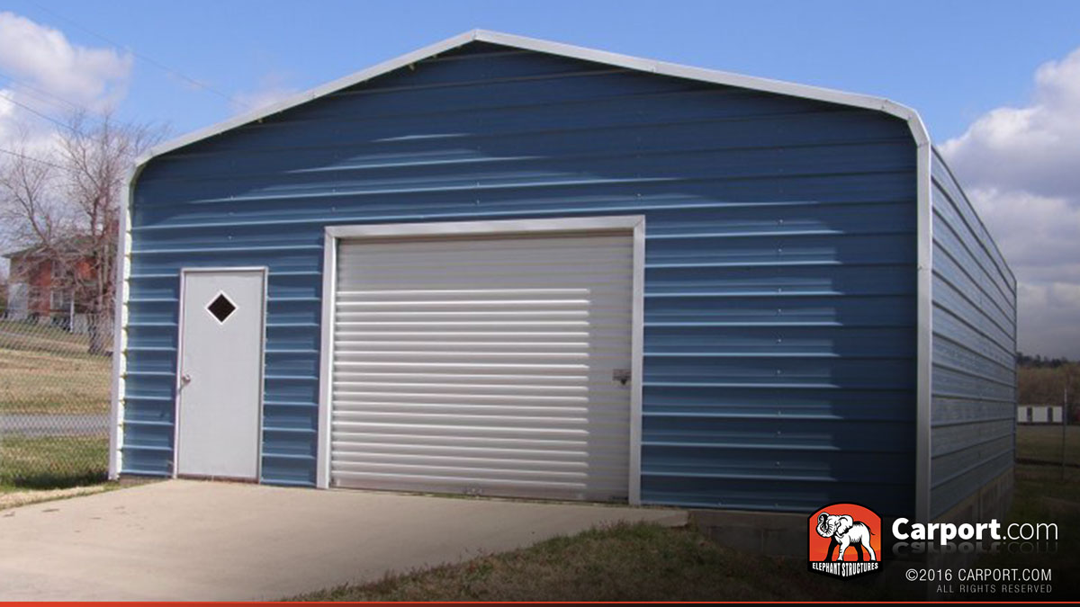 Single Car Metal Garage 22 39 X 31 39 Shop Metal Buildings
