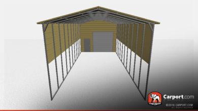 18x61 RV Storage Building Front