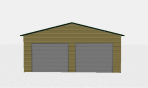 24x26 Two Car Metal Building 1