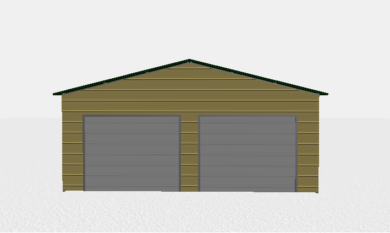 24x26 Two Car Metal Building 1