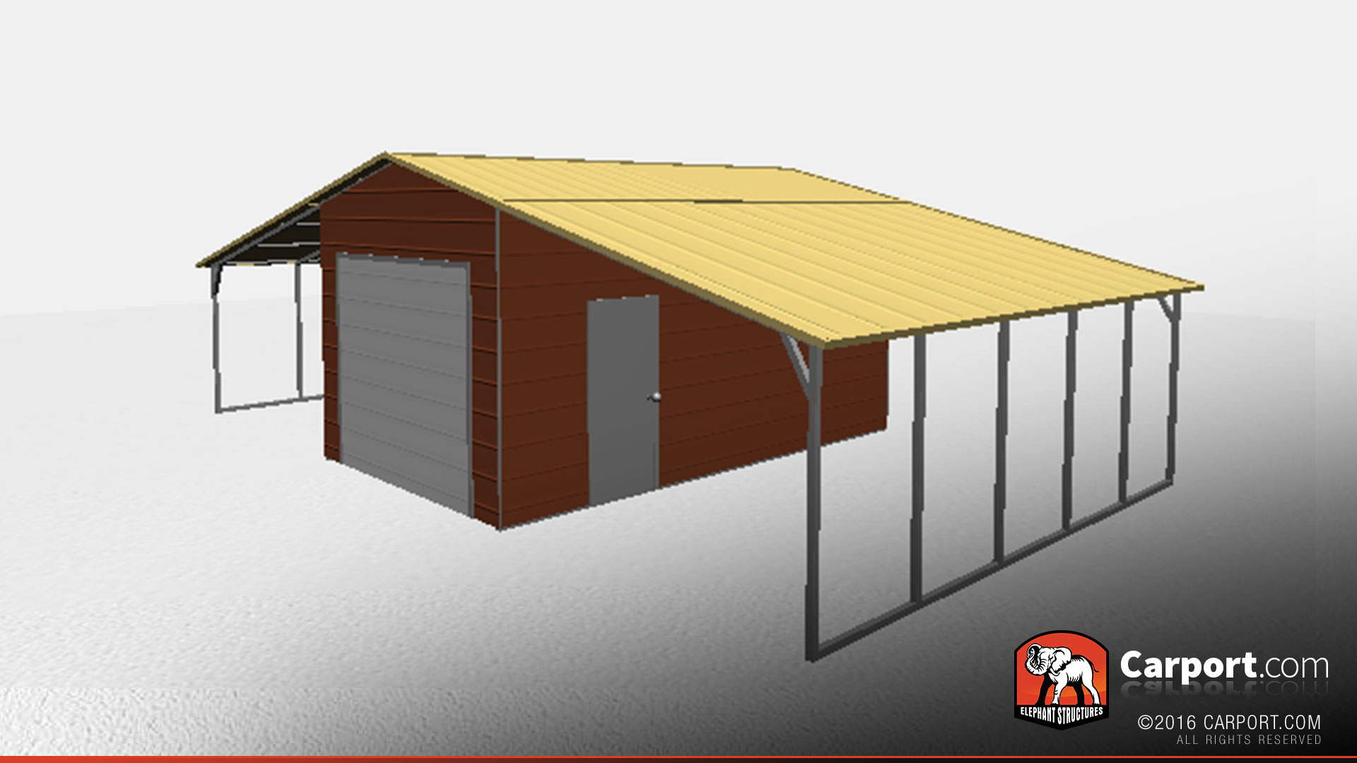 36 X 21 X 10 Steel Building With Lean Tos Shop Metal